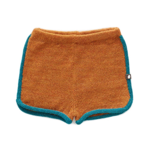 Oeuf 70'S Shorts Ochre // Teal by Oeuf - Mini Pop Style