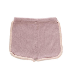 Oeuf 70'S Shorts // Mauve & Coral Almond by Oeuf - Mini Pop Style