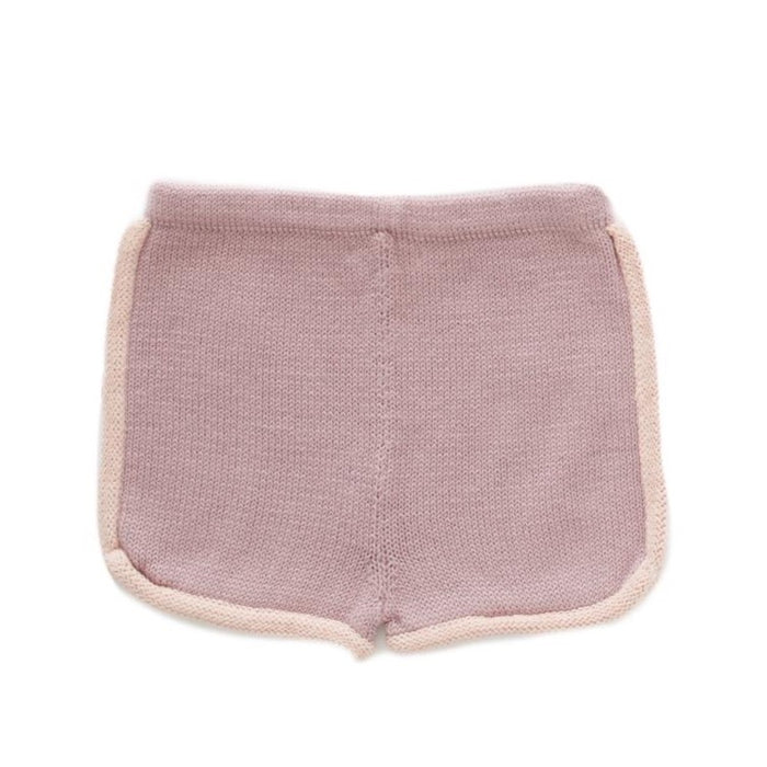 Oeuf 70'S Shorts // Mauve & Coral Almond