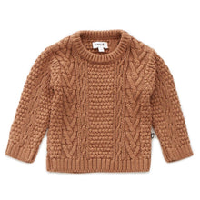 Load image into Gallery viewer, Oeuf Cable Knit Sweater // Brown Sugar by Oeuf - Mini Pop Style