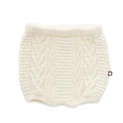 Oeuf Cable Knit Shorts // White by Oeuf - Mini Pop Style