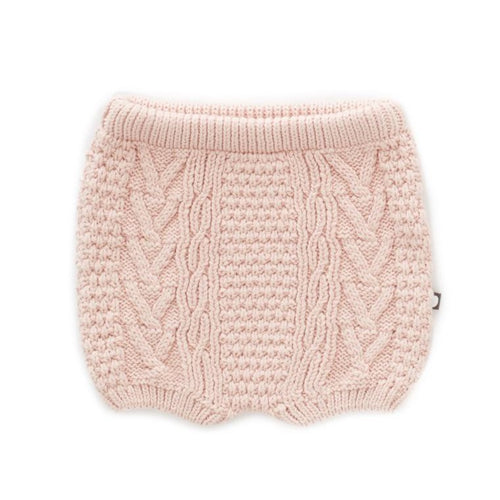 Oeuf Cable Knit Shorts // Coral Almond by Oeuf - Mini Pop Style