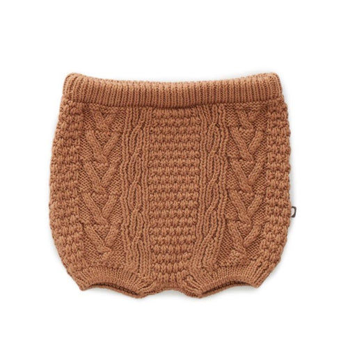 Oeuf Cable Knit Shorts // Brown Sugar by Oeuf - Mini Pop Style