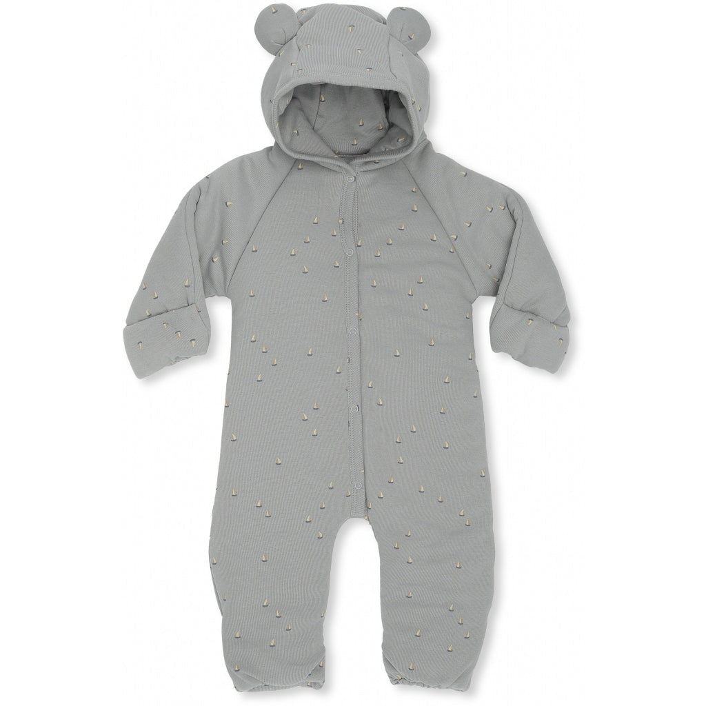 Konges Sløjd New Born Onesie With Hood // Mille Marine French Blue