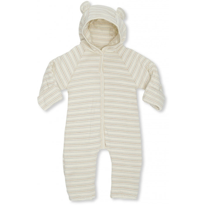 Konges Sløjd New Born Onesie With Hood // Vintage Stripe