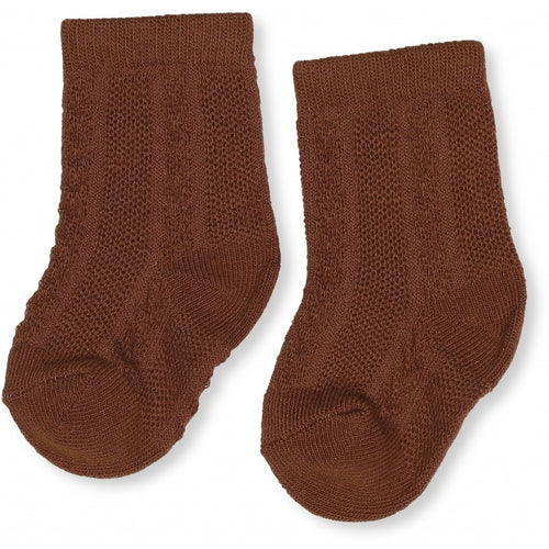 Konges Sløjd Fuma Sock Pointelle Deux // Caramel - Mini Pop Style