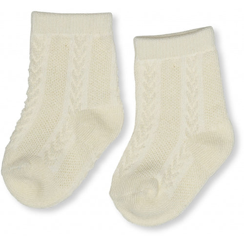 Konges Sløjd Fuma Sock Pointelle Deux // Vanilla - Mini Pop Style