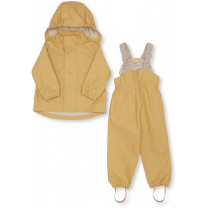 Konges Sløjd Palme Rainwear Set Solid Cotton // Acacia