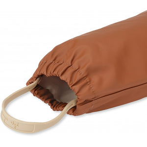 Konges Sløjd Palme Rainwear Set Solid Cotton // Caramel by Konges Sløjd - Mini Pop Style
