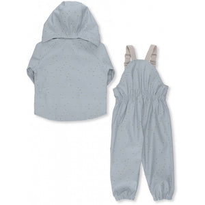 Konges Sløjd Palme Rainwear Set Cotton Print // Mille Marine French Blue by Konges Sløjd - Mini Pop Style