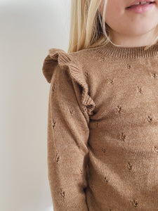 Konges Sløjd Sinna Knit Blouse Wool // Almond