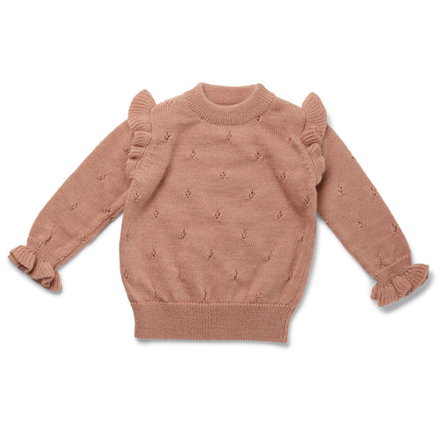 Konges Sløjd Sinna Knit Blouse Wool // Rose Blush