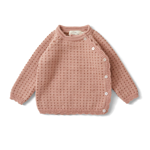Konges Sløjd Matheo Cardigan Wool // Rose Blush, Honey Comb