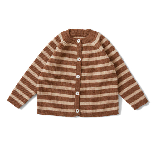 Konges Sløjd Meo Cardigan Wool // Almond/Creamy White