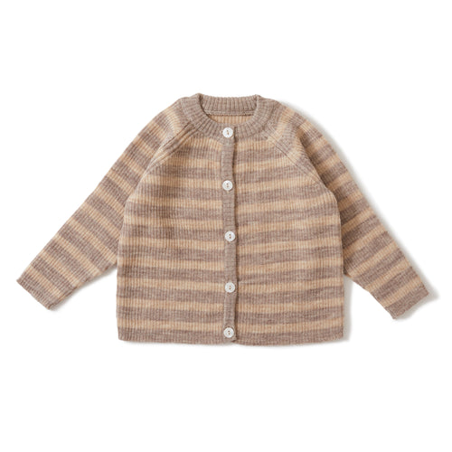 Konges Sløjd Meo Cardigan Wool // Paloma Brown/Creamy White