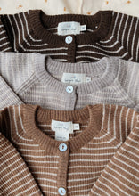 Load image into Gallery viewer, Konges Sløjd Meo Cardigan Wool // Paloma Brown/Creamy White