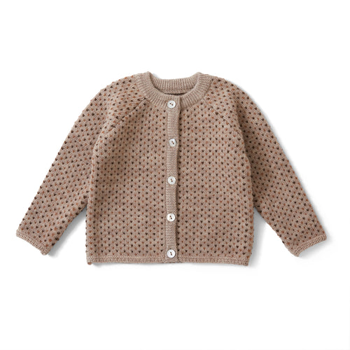 Konges Sløjd Meo Cardigan Wool // Paloma Brown/ Honey Comb