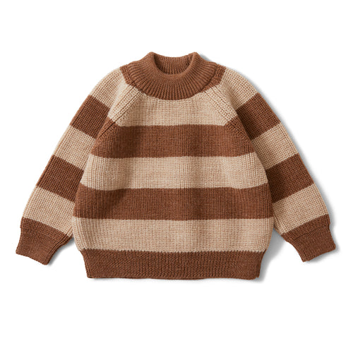 Konges Sløjd Witum Knit Sweater Wool // Almond/Creamy White