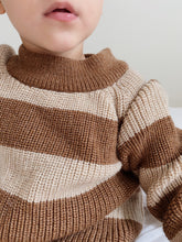 Load image into Gallery viewer, Konges Sløjd Witum Knit Sweater Wool // Almond/Creamy White