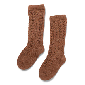 Konges Sløjd Wool Pointelle Sock // Almond