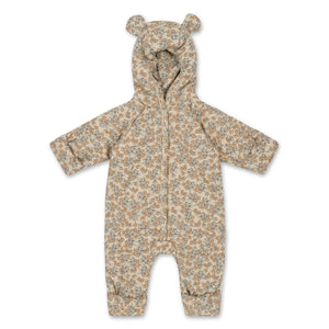 Konges Sløjd New Born Onesie With Hood Deux // Orangery Beige