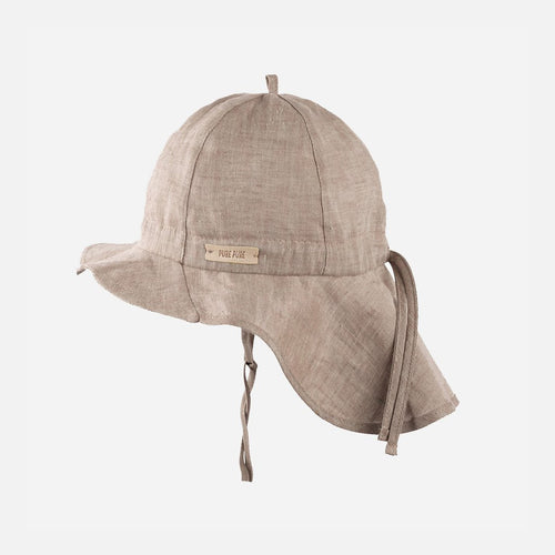 Pure Pure Linen Sun Cap // Moon Rock by Pure Pure - Mini Pop Style