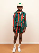 Load image into Gallery viewer, Mini Rodini Stripe Sweatshorts // Green by Mini Rodini - Mini Pop Style