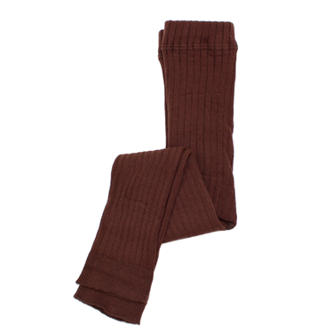 Mini Rodini Ribbed Leggings // Brown by Mini Rodini - Mini Pop Style
