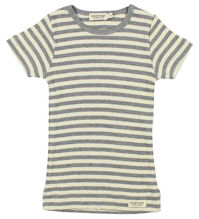 MarMar Tee Short Sleeve Stripes // Off White/Grey by MarMar - Mini Pop Style