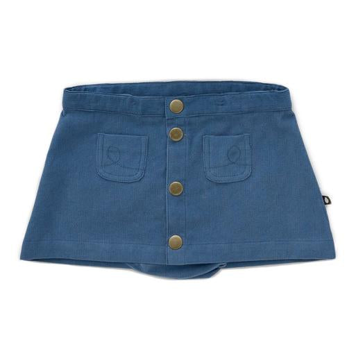 Oeuf Snap Button Skirt With Bloomer // Midnight Blue
