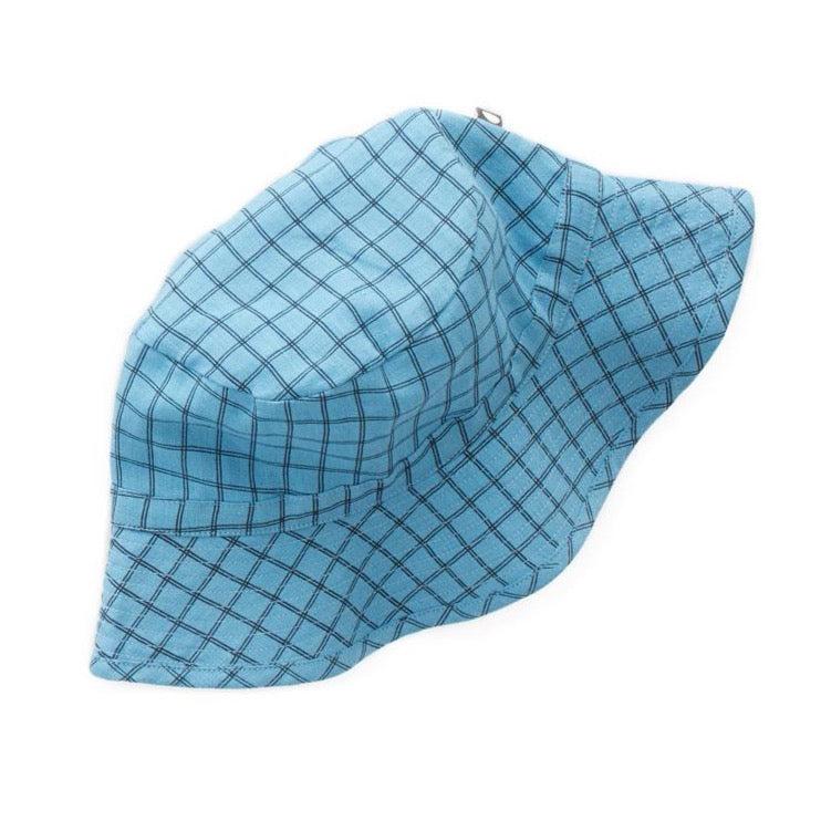 Oeuf Linen Bucket Hat // Blue Checks by Oeuf - Mini Pop Style