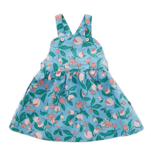 Oeuf Overall Dress // Blue Flowers by Oeuf - Mini Pop Style