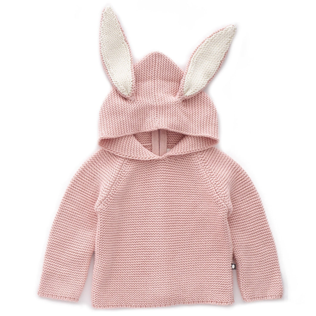 Oeuf Bunny Hoodie // Cotton/Light Pink by Oeuf - Mini Pop Style