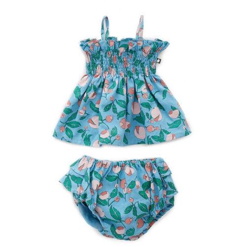 Oeuf Ruffle Bloomer Set // Blue Flowers by Oeuf - Mini Pop Style