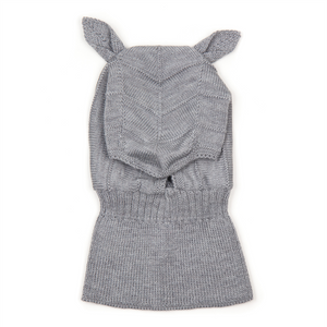 Huttelihut Balaclava Rabbit Merino Wool // Light  Grey