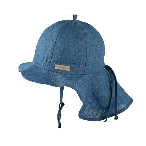 Pure Pure Linen Sun Cap // Navy by Pure Pure - Mini Pop Style