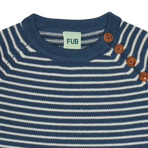 FUB Sweater Wool // Petrol/Ecru