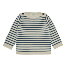 Load image into Gallery viewer, FUB Baby Boatneck Blouse Wool // Ecru/Petrol