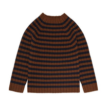 Load image into Gallery viewer, FUB Highneck Sweater Wool // Umber/Dark Navy