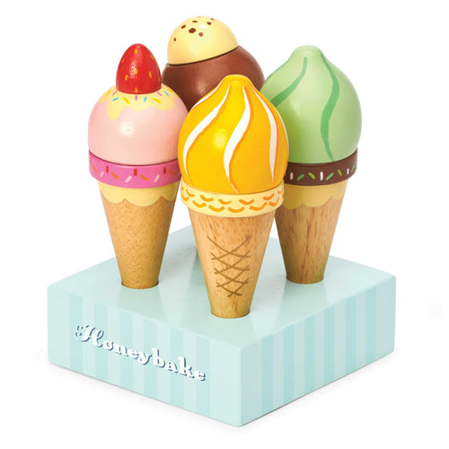 LE TOY VAN Honeybake Ice Cream Set by LE TOY VAN - Mini Pop Style