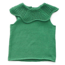 Load image into Gallery viewer, Oeuf Scalloped Collar Vest // Green by Oeuf - Mini Pop Style