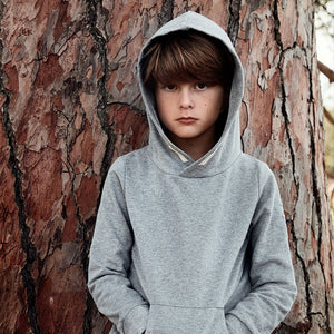 Gray Label Classic Hooded Sweater // Grey Melange by Gray Label - Mini Pop Style