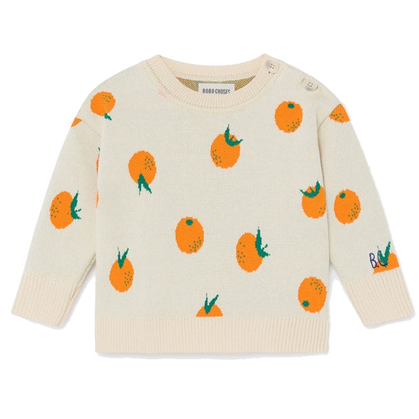 BOBO CHOSES Oranges Knitted Jumper by BOBO CHOSES - Mini Pop Style