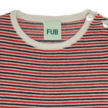 Load image into Gallery viewer, FUB Baby Striped Blouse Wool // Ecru/Dark Navy/Bright Red