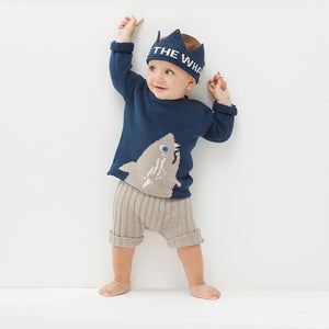 Oeuf Crown Whales // Navy by Oeuf - Mini Pop Style