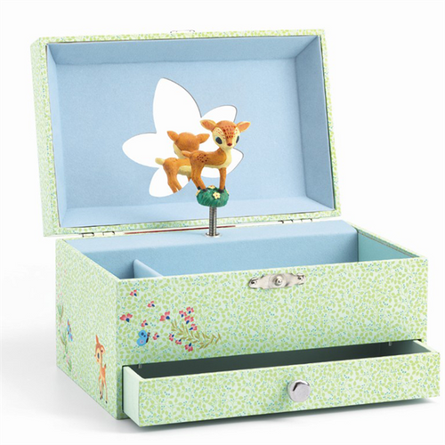 Djeco  Musical Box Fawn in the woods by Djeco - Mini Pop Style
