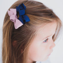 Load image into Gallery viewer, Mimi & Lula Florence Bow Salon Clips // Navy- Dusty Pink by Mimi & Lula - Mini Pop Style