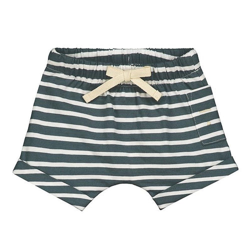 Gray Label Baby Shorts // Blue Grey & White Stripe by Gray Label - Mini Pop Style