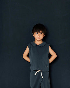Gray Label Collar Tank Top // Blue Grey by Gray Label - Mini Pop Style