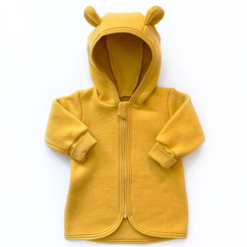 Huttelihut Jackie Baby Jacket Cotton Fleece // Mustard by Huttelihut - Mini Pop Style